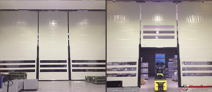 Puertas rápidas enrollables, ¿cómo conseguir un ahorro de energía mediante separación de áreas en un pabellón?